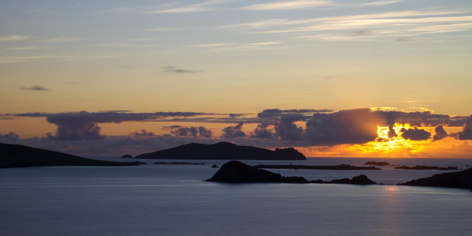 Coucher de soleil, péninsule de Dingle
