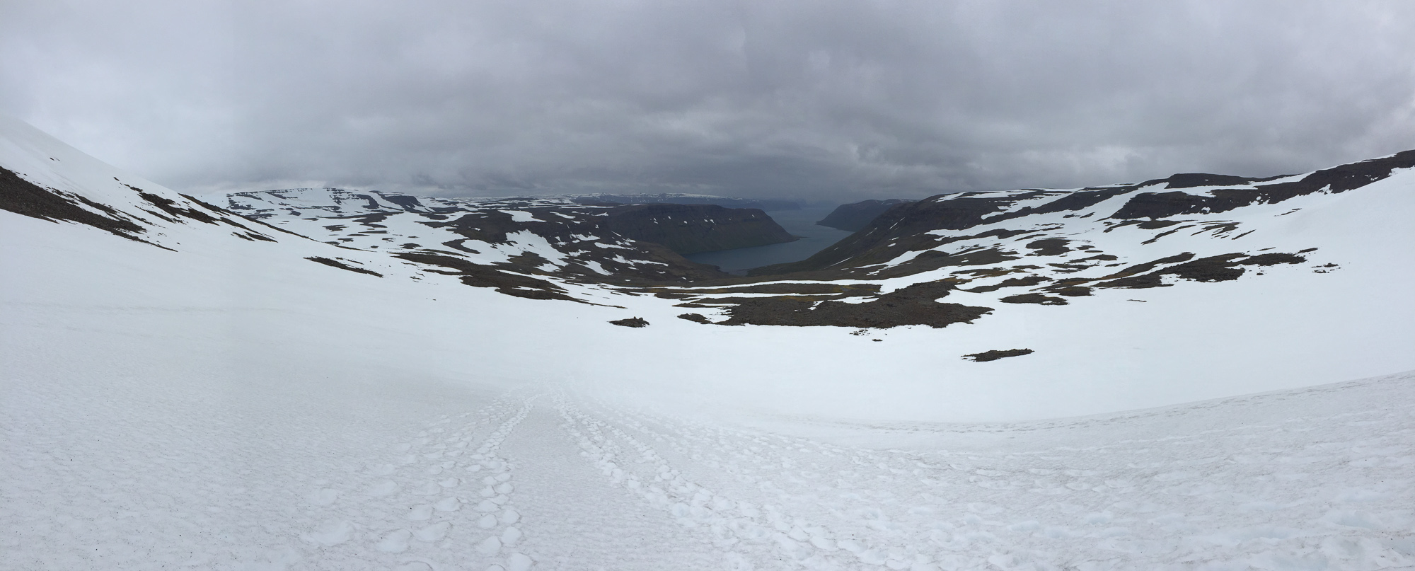 Veiðileysufjörður depuis le col