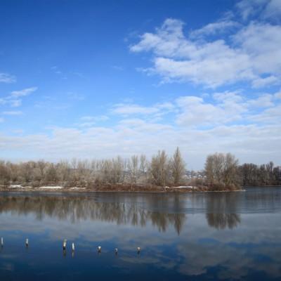Parc de Miribel, un beau jour d'hiver
